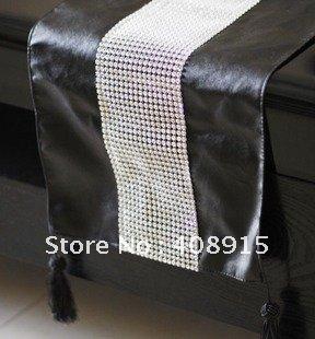 runner black   Leather Black Runner Buy Runner Faux  table Bedding Diamond with Luxury Table