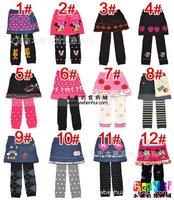6pcs/lot Free Shipping New Girl's Leggings Pants Divided Skirt (More Color) Guaranteed 100%