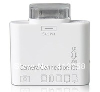 wholesale 150pcs 5+1 in1 Camera connection kit card reader for ipad DHL FEDEX free shipping