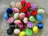 Free Shipping! 500X Wholesale Lots Roses Heads Artificial Silk Fake Flower Party Wedding Decor Favor 13 colors 1.18""
