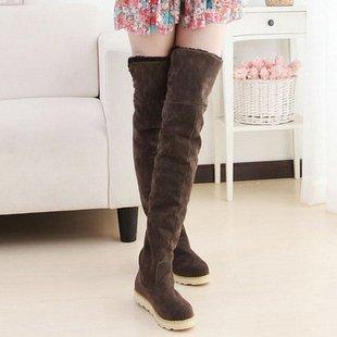 Женщин плоские ботинки высокого ног