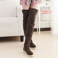Hot Selling 2015 autumn and winter snow boots for women flat high-leg boots tall boots over-the-knee long boots