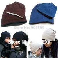 Korean Style Cute Boy Girl Baby Toddler Child Parent Hat Knit Beanies Spring Fall Winter Hat For Women Child Cap Chapeu Feminino