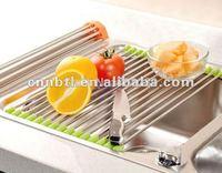 Hot Sale stainless steel folding drain rack/sink rack