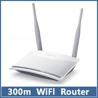 1pcs wifi wireless router 300Mbps 11N 802.11b/g/n  4-Port 5dBi Lan Broadband Fast FW300R  White