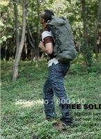 Outdoor tactical mountaineering bag canvas backpack bucket bag travel bag