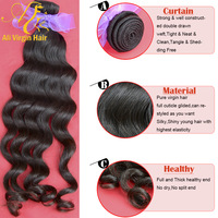 Queen hair products Malaysian virgin hair extension natural wave 100% virgin human hair remy hair weave 10-30 inches 3.5oz/pc