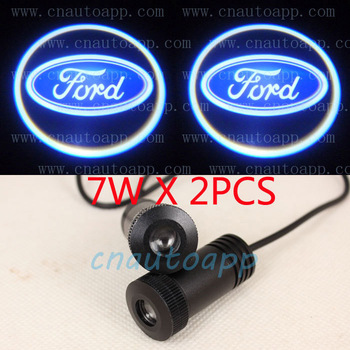 FORD LOGO Car LED Emblem  Welcome Light Door Step Ground Projecting Lamp For  Mustang/Fusion/F-150/Focus/Escape/Mustang etc