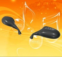Free shipping(2 sets)+Black color+motorcycle rearview mirrors with MP3 and FM function