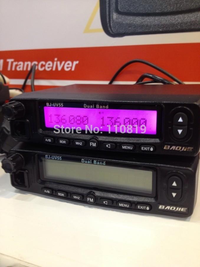 CE&FCC uhf/vhf land mobile radio 45w dual band mobile radios dual band mobile radio with display keypad (BJ-UV55)(China (Mainland))