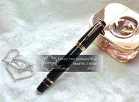 Free Shipping! 14k Gold Luxury Gel Pen with Black Austria Diamond, Boheme Series Luxurious Brand Pens