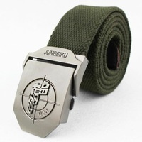 Lengthen the stereoselectivity pistol male canvas belt thickening knitted belt