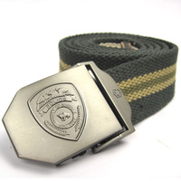 Personalized shield smooth buckle lengthen casual male women's thickening canvas belt fashion strap cloth tape