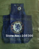 Chelsea fc  foldable street shopping bag / travel storage bag / bule folding supermarket backpack