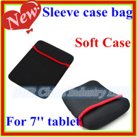 "High quality 10pcs/lot 7"" Soft Case for Tablet PC , 7 inch Fashion Sleeve case bag"