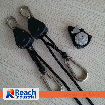 150LBS Light Hanger /Rope Ratchet  with Steel Ratchet Pro Grip from Factory Directly,2pcs/pair