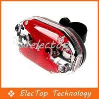 Free shipping 9 LED Bike Bicycle Warning Tail Rear Light Lamp 120pcs/lot Wholesale