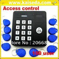 RFID ProximityAccess Control keypads System + Free Shipping+125KHz+10 cards+keypads waterproof