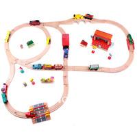 Thomas Wooden TRAIN tracks wooden kids toy car toy  wooden toys set track 1 set=32pcs Kids' favorite