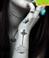 9 in 1  crown designs Temporary tattoo Waterproof body tattoo stickers body art Painting#TA092