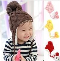Twisted , dsmv plus velvet ear protector cap child hat baby knitting wool cap autumn and winter hat bonnet male child female