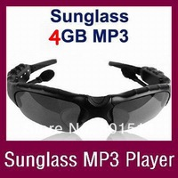Sunglasses 4GB Headset Headphone Mp3 Player Sunglasses Sports MP3 Player Free Shipping