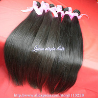 Queen hair products,Mix size 3pcs /lot virgin brazilian hair extension,Natural straight,about 3.5oz/pcs