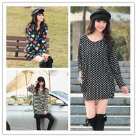 2013 autumn women's loose plus size Flannel trend o-neck long sleeves length sweatshirt jumper hoodies