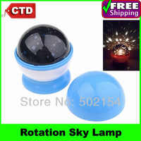 Free Shipping Cheap Rotation Starry Star Moon Sky Romantic Projector LED Night Light Lamp (Random Color)-- In Stock