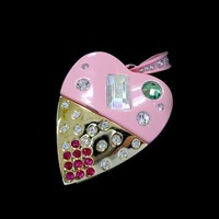 Fashion Heart Shape USB Gift USB Flash Drive 1GB 2GB 4GB 8GB 16GB 32GB 64GB