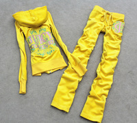 Free Shipping Women's Brand Velvet Tracksuits,Women Velours Suits,Sport Tracksuits,Hoodies & Pants SIZE S--XL #7161