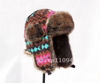 new 2014 FASHION WINTER WIND-PROOF WARM FUR WOMEN/MEN HIGH-QUALITY POPULAR RUSSIAN HAT WITH FREE SHIPPING