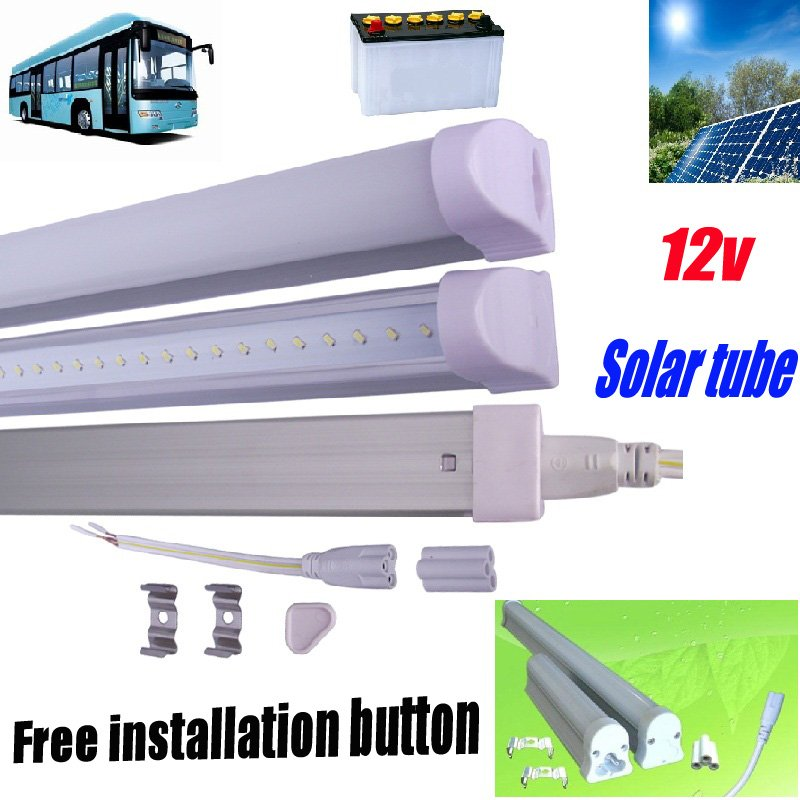 Free shipping 4pcs/lot led tube t5 12v 900mm 12w high lumn 900-1100lm led tube light t5 led fluorescent tube best selling(China (Mainland))