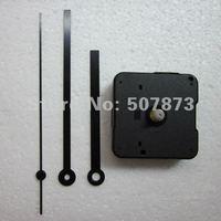 Hot sale Wholesale 10PCS  Mute Quartz Clock Movement Kit Spindle Mechanism shaft 12mm with hands  BJ008