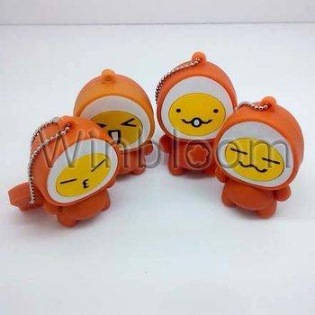 Egg Head Doll USB Flash Drive 4GB 8GB 16GB 32GB Real Capacity FREE Shipping PVC USB Memory Stick