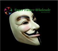 Cheap Guy Fawkes V Vendetta Team Pink Blood Scar Masquerade Masks Halloween Carnival Mask