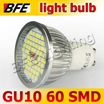 Holiday Sale 4pcs/Lot 60 LED 3528SMD GU10 5W Warm/Cold White Light Bulbs Super Bright
