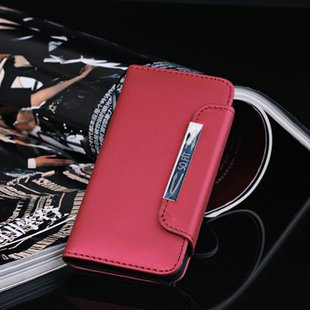 New  For iphone 5 flip leather,with Bank Card PU leather Case for iphone 5 5G  FREE SHIPPING