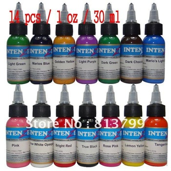 14pcs Tattoo Ink 1OZ/bottle free shipping