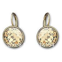 Free Shipping Austrian Crystal Bella Golden Shadow Pierced Earrings Wholesale