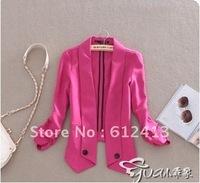 new fashion European style autumn wrinkles sleeve two button cardigan jacket women suit,lady suit P-009