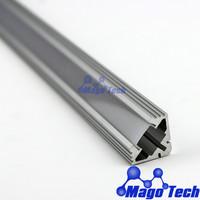 FEDEX/EMS Free shipping-wholesale anodized aluminum Corner Mount MDF LED strip Profile Housing 45 degree LED light emission