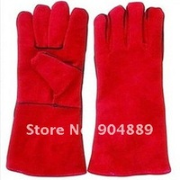 Sutable for welder use Full leather tig welding gloves/hand  protective gloves/ double  gloves for welding machine