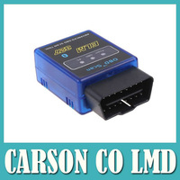 Free Shipping the best quality and best service super mini bluetooth elm327 car obd obdii can bus scanner wireless