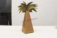 Free Shipping 1000pcs Palm Tree Candy Box Festive, Party Supplies TH014