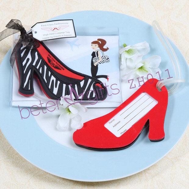 Free Shipping 200box First Class Fashionista High Heel Luggage Tag ZH011 wedding decoration or wedding favor(China (Mainland))