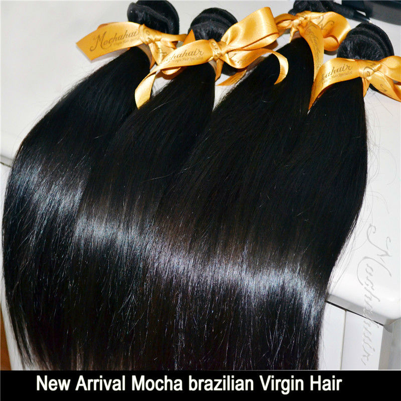 Free Shipping Queen hair Products10pcs/lot Straight Brazilian Virgin Human Hair Extensions Wholesale Natural Color Tangle Free(China (Mainland))