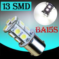 10pcs 1156 BA15S 13 SMD Pure White Tail Brake Turn Signal 13 LED Car led Light Bulb Lamp parking car light source wholesale V10