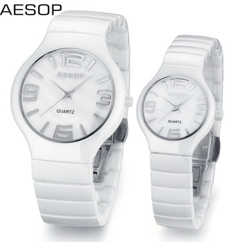 Aesop fashion watch white ceramic watch waterproof for men and women top quality 9918