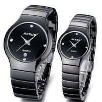 AESOP Pure White/Black Ceramic Bracelet Watch Fashion Steel Case Quartz Wristwatch Women Dress Watches Men's Sport Watch  9918